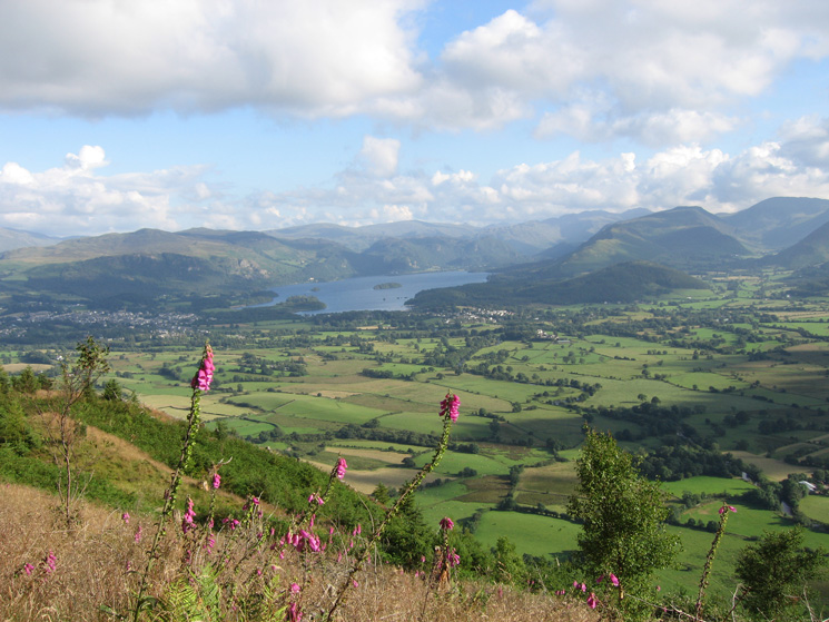 Keswick, Derwent Water and the view south
