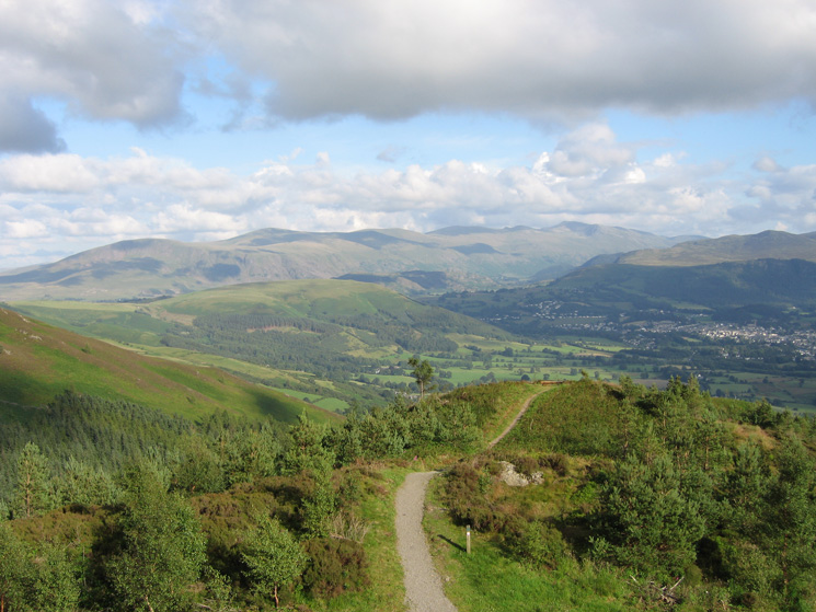 The Helvellyn ridge from Dodd