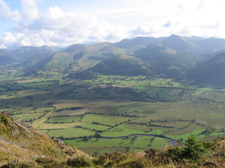 The north western fells seen across the Vale of Keswick