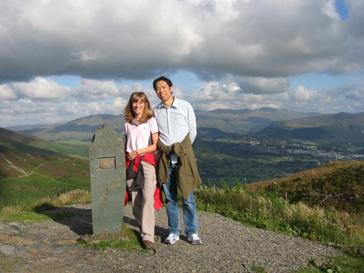 Angela and Wallace at Dodd's summit