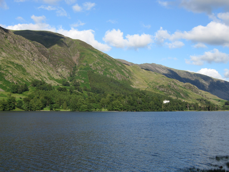 Looking across Buttermere to Hassness and the slopes of Robinson