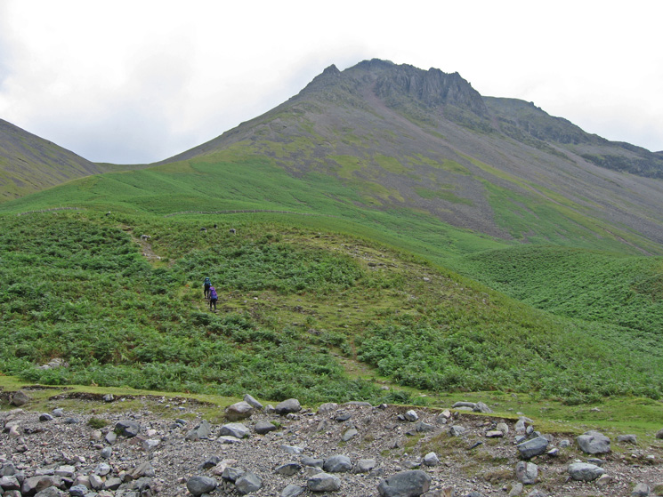Looking up Gavel Neese to Great Gable