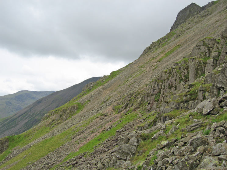 Looking back along the traverse