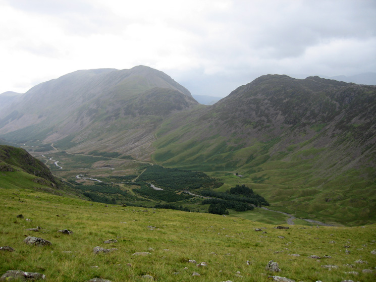 Looking across Ennerdale to High Crag, Scarth Gap and Haystacks