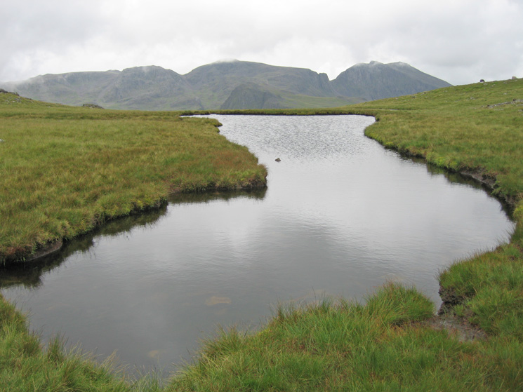 The Scafells from Kirkfell Tarn