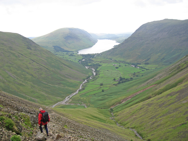 Heading back down to Wasdale Head from Beck Head