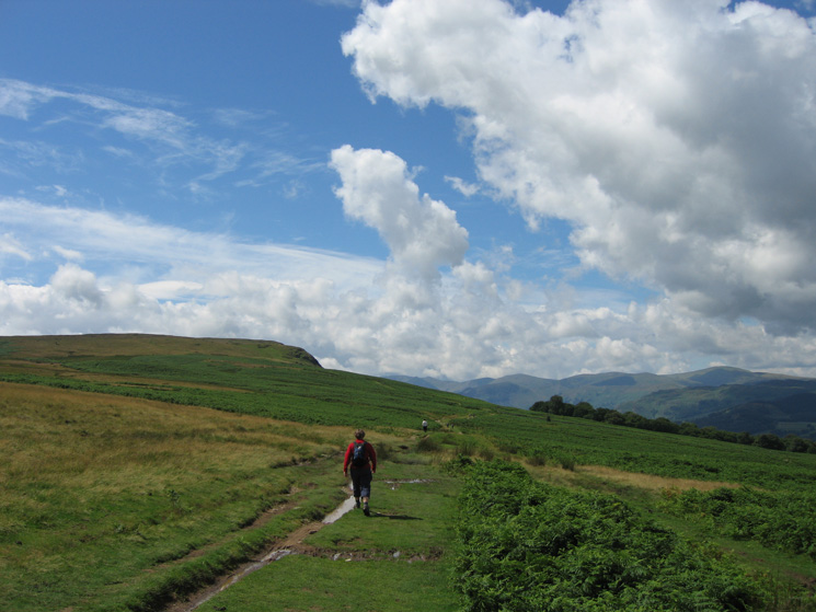 Heading across to join the path up White Knott