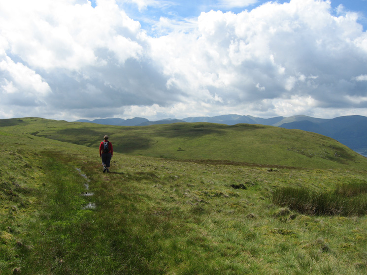 Heading for Bonscale Pike (the summit is just right of centre) from Arthur's Pike