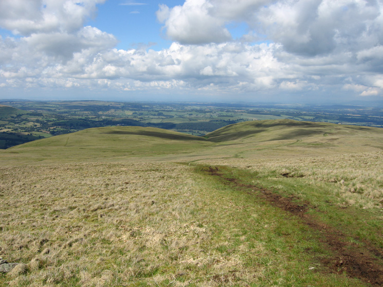 Bonscale Pike and Arthur's Pike from our descent north off Loadpot Hill