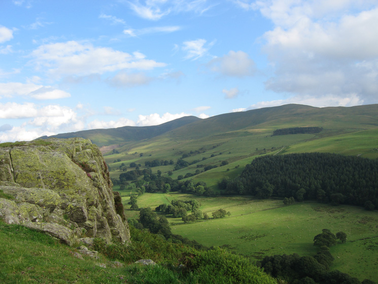 Looking across the Wythop valley to Lord's Seat and Broom Fell from Sale Fell's west ridge