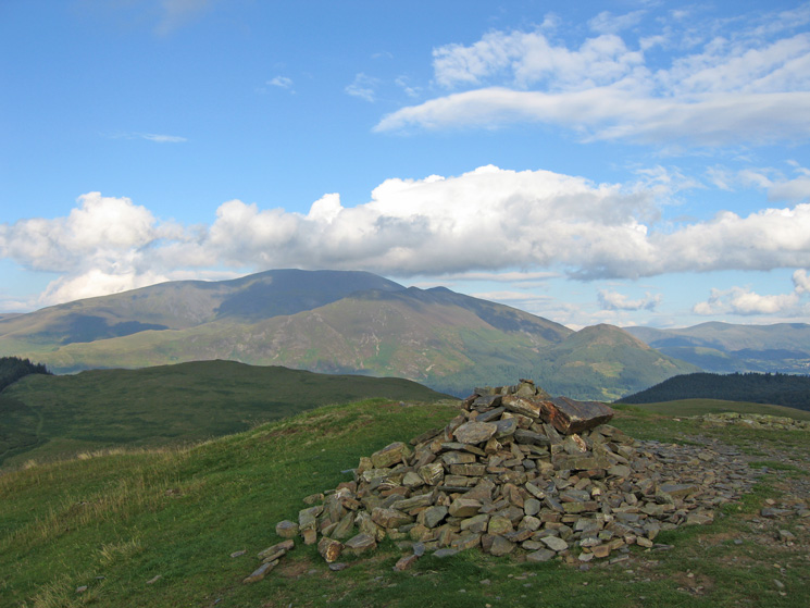 The Skiddaw fells from Sale Fell's summit