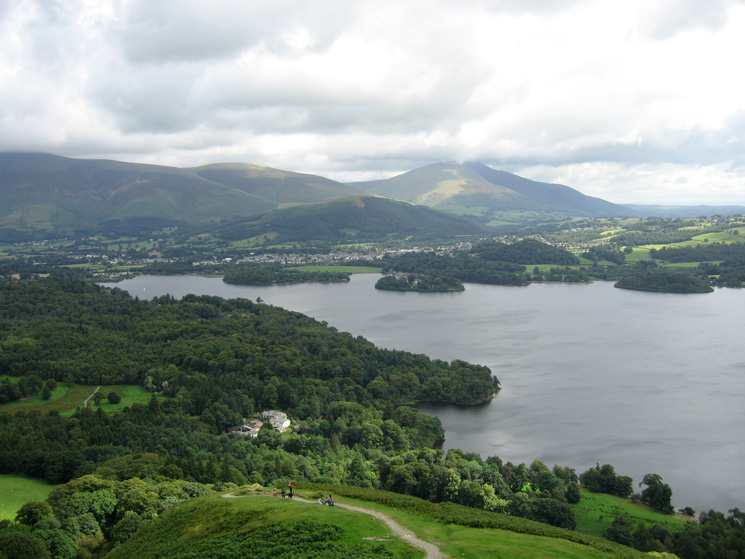 Derwent Water and Blencathra from our ascent of Skelgill Bank