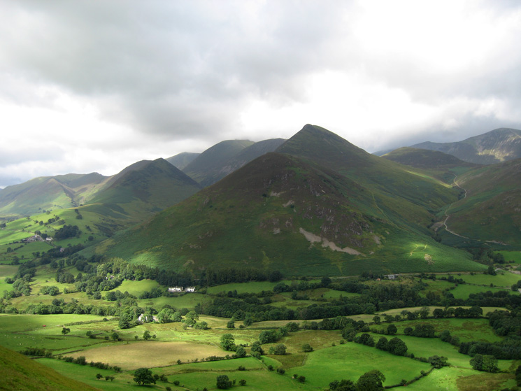 Causey Pike seen across the Newlands valley