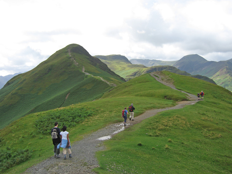 Looking along Skelgill Bank to Catbells