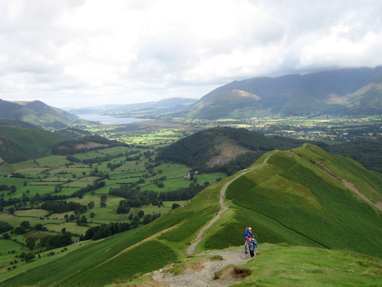The view north from our ascent of Catbells with Bassenthwaite Lake in the distance