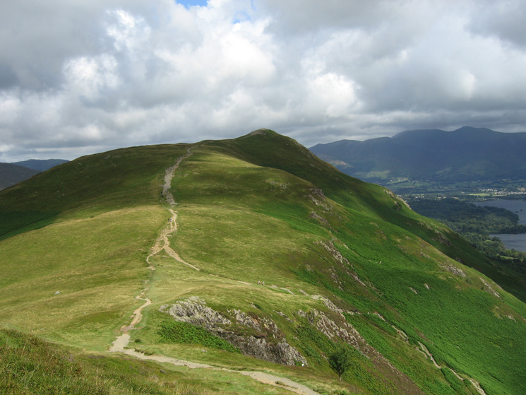 Looking back to Catbells from just above Hause Gate