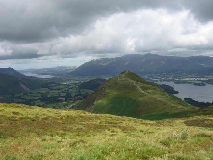 Catbells with the Skiddaw fells behind from our route up Maiden Moor