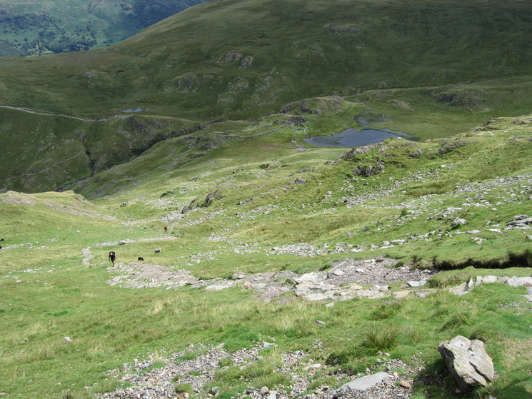 Looking back down on Dalehead Tarn as we head up Dale Head. Its a long way up, nearly 900ft from tarn to summit!