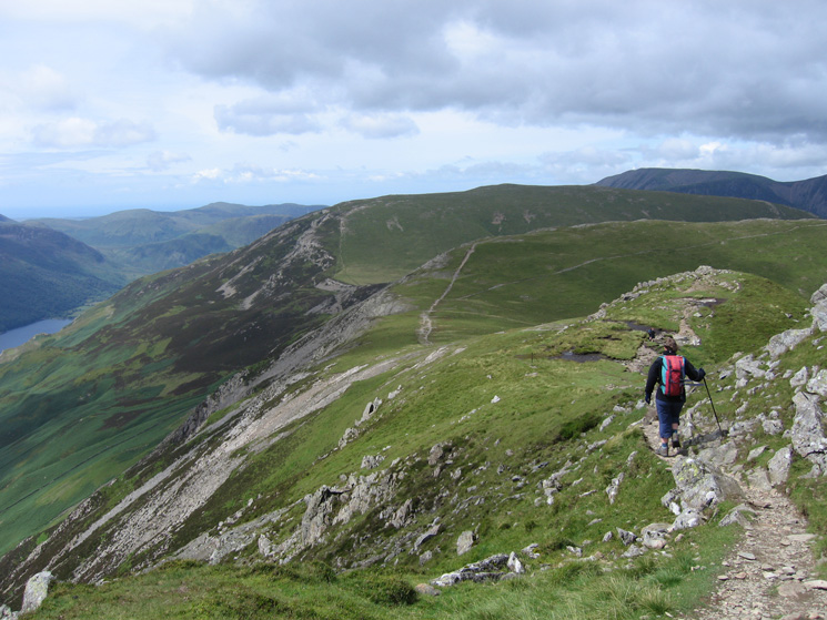 Heading along Hindscarth Edge