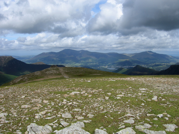 The view north to Skiddaw and Blencathra from Hindscarth's summit