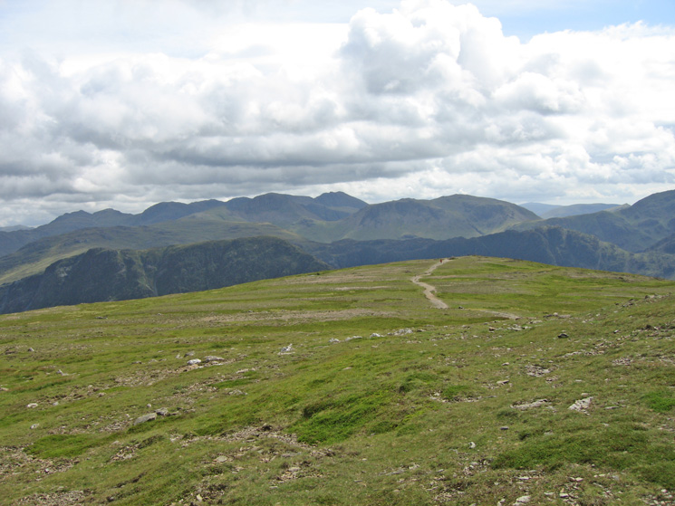 Looking south from Robinson's summit to the Scafells