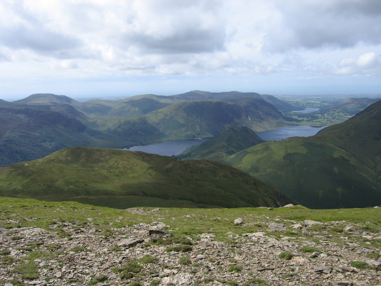 Crummock Water with Loweswater beyond from near Robinson's summit