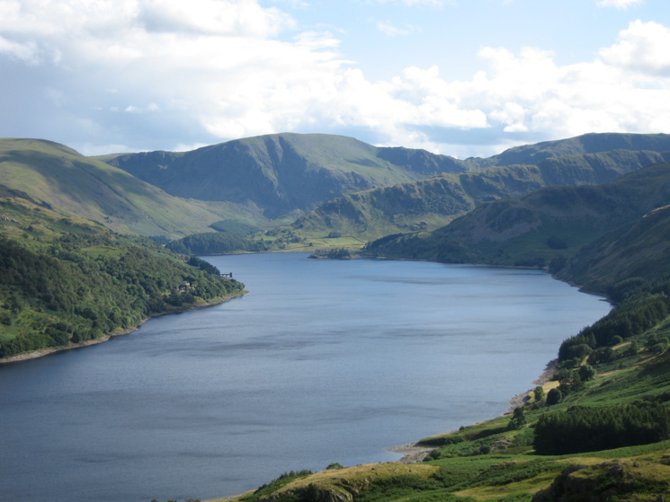 Zooming in on Harter Fell and the Rough Crag ridge at the head of Haweswater