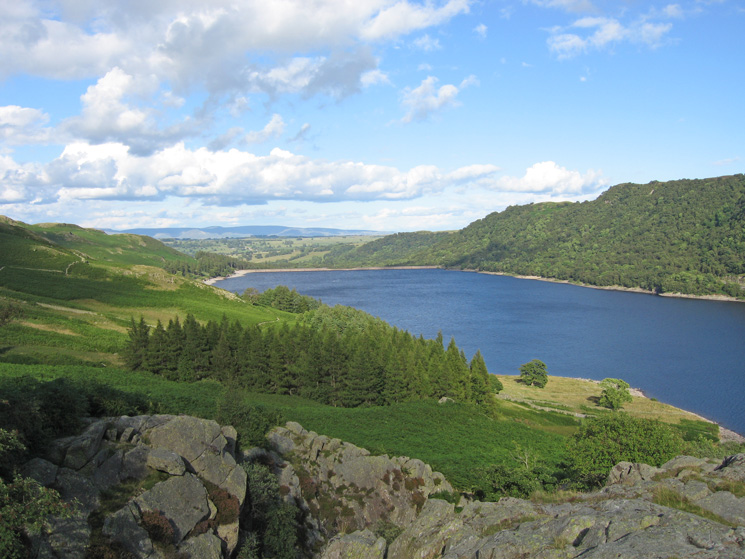 Looking towards Haweswater Dam from the path next to Measand Beck