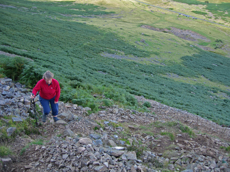Heading up the path that rises across the fellside to join Further Gill Sike, the road (and cars) are already a long way below