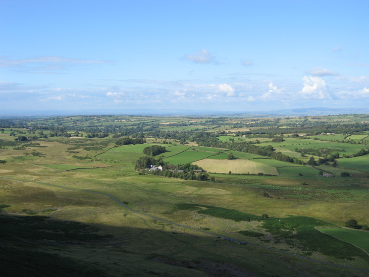 Linewath Farm and the view to the north east