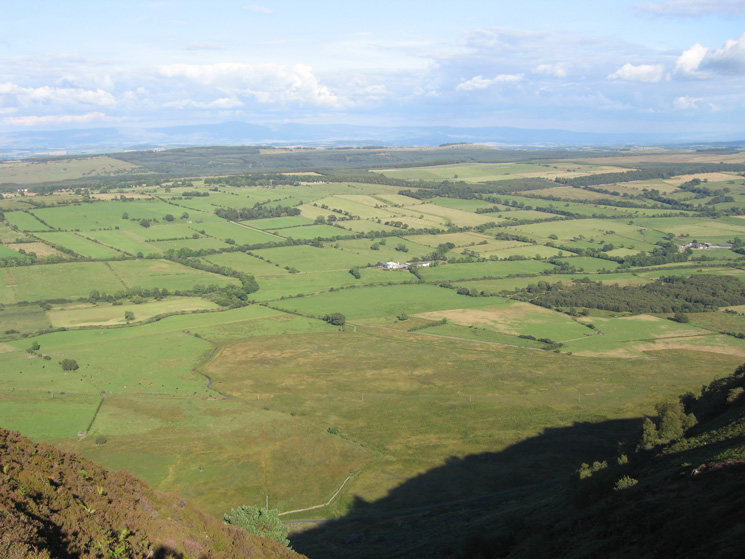 The view east to the North Pennines from the top of Further Gill Sike