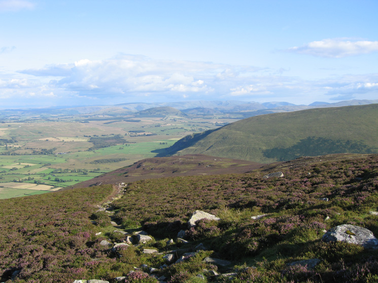 Bowscale Fell's east ridge with the far eastern fells beyond from our ascent of Carrock Fell