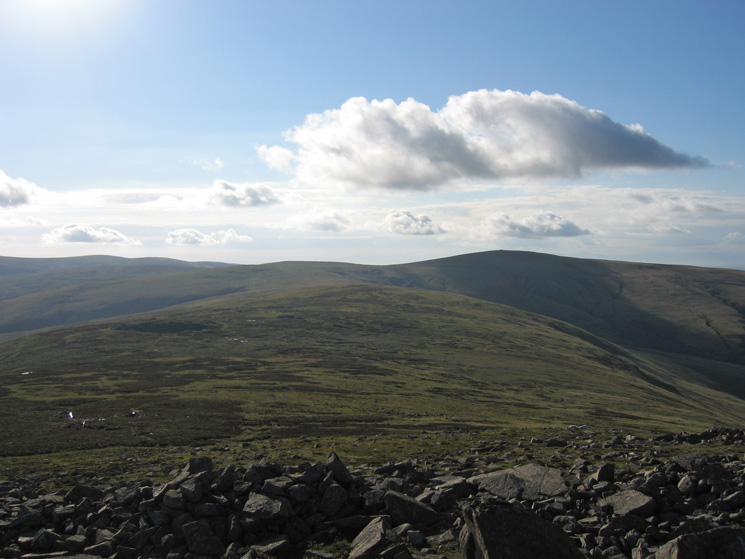 The ridge to High Pike (in shadow right) from Carrock Fell