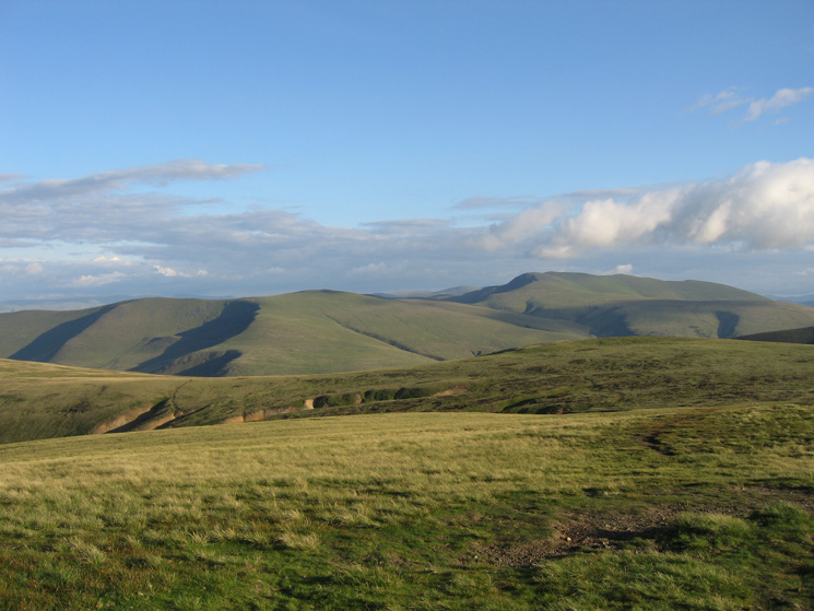Bowscale Fell and Blencathra from High Pike's summit