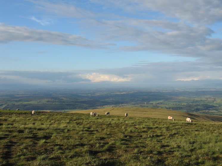The view north from High Pike's summit