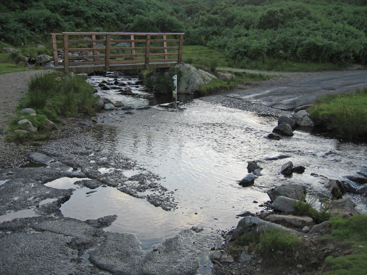 Carrock Beck Ford, a lot less water than when we were last here at the end of December 2006