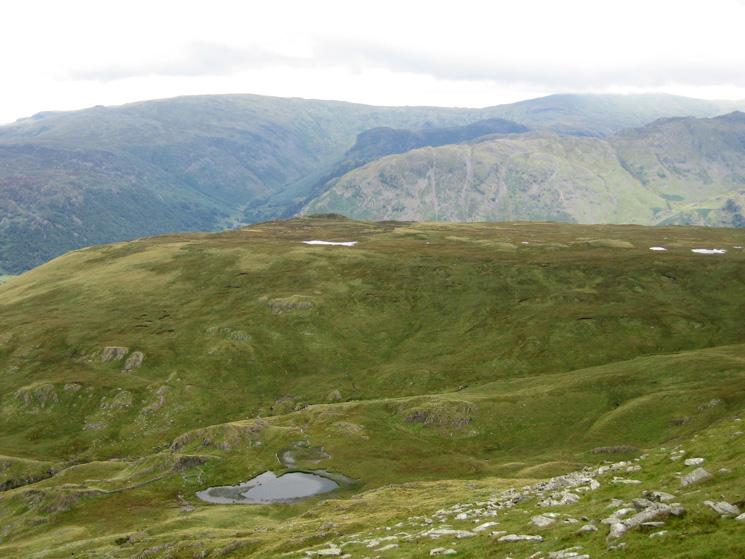 Dalehead Tarn with Launchy Tarn on High Scawdel behind