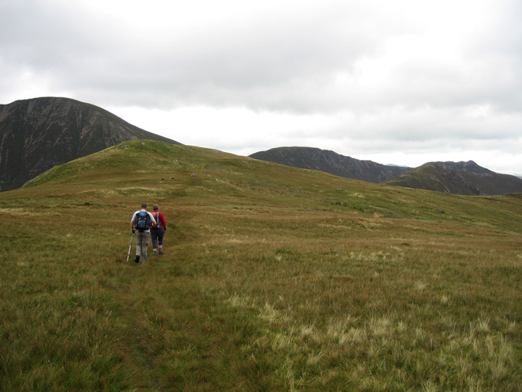 Approaching Knott Rigg summit
