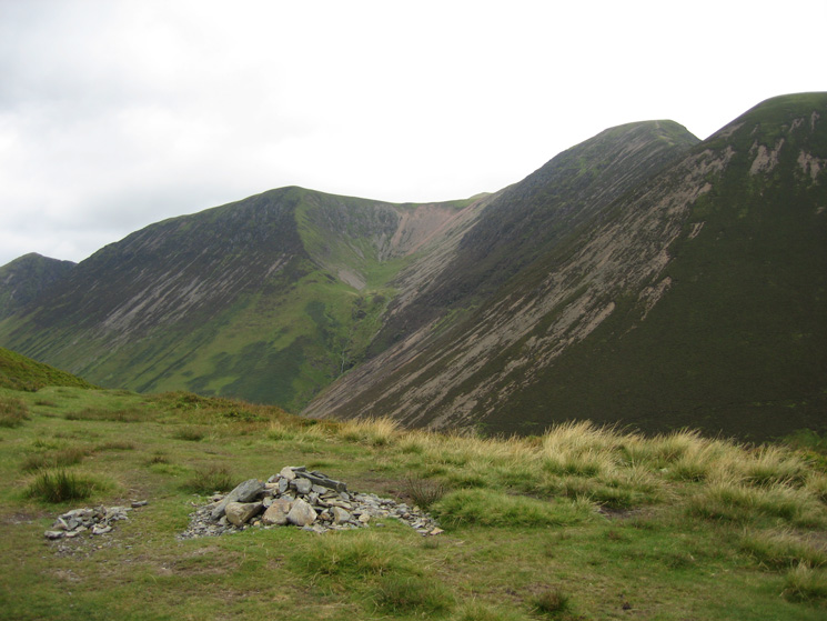 l-r: Whiteless Pike, Wandope, Eel Crag and Sail from Ard Crags' summit