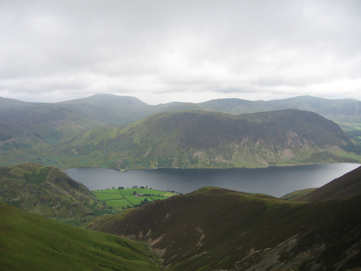 Mellbreak on the far side of Crummock Water from Thirdgill Head Man