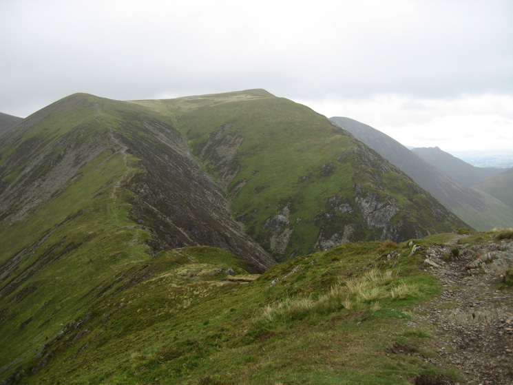 Thirdgill Head Man and Wandope from Whiteless Pike summit