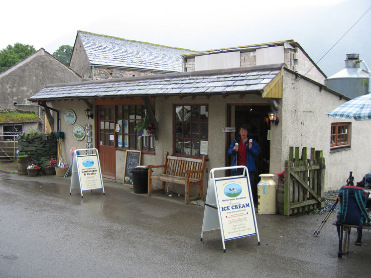 Ice cream anyone? Buttermere Ayrshires Ice Cream at Syke Farm, Buttermere - the best!