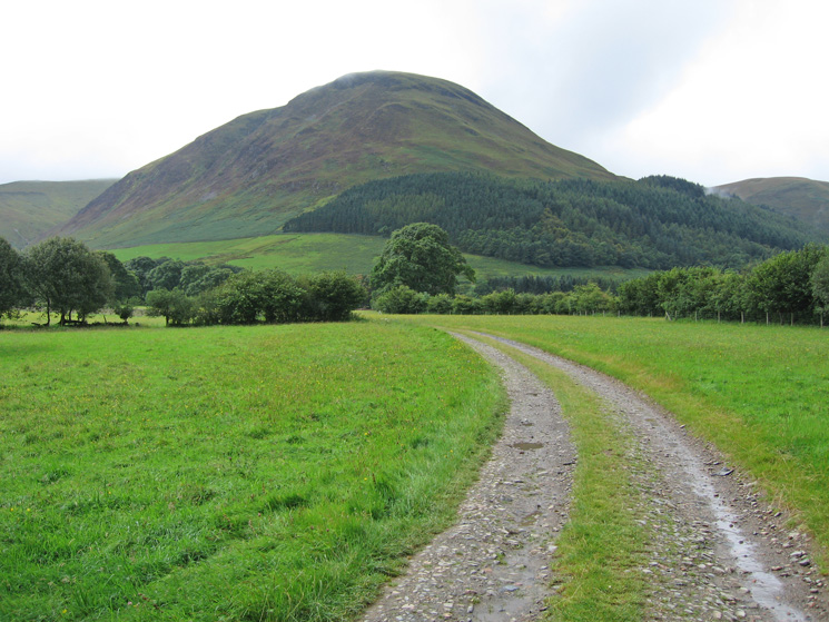 Carling Knott from the track to High Nook Farm