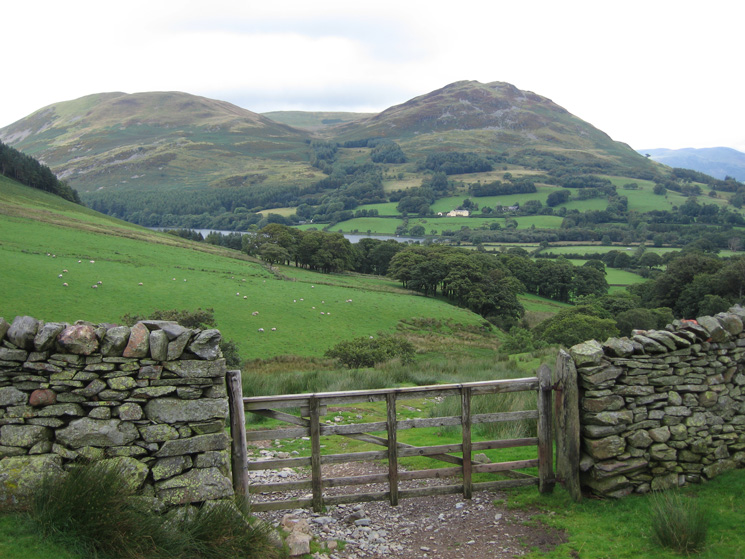 Darling Fell, Low Fell and a glimpse of Loweswater from above High Nook Farm