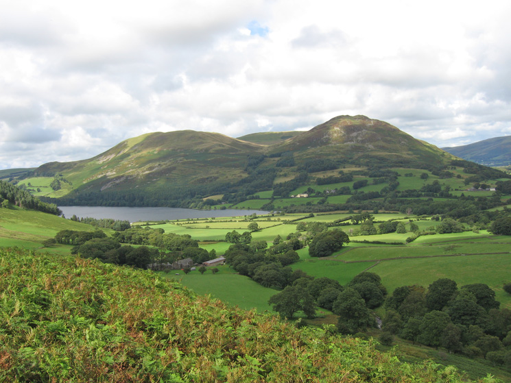 Darling Fell, Low Fell and Loweswater from above High Nook Farm