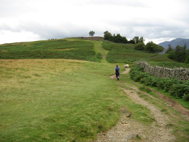 Heading towards Walla Crag's summit