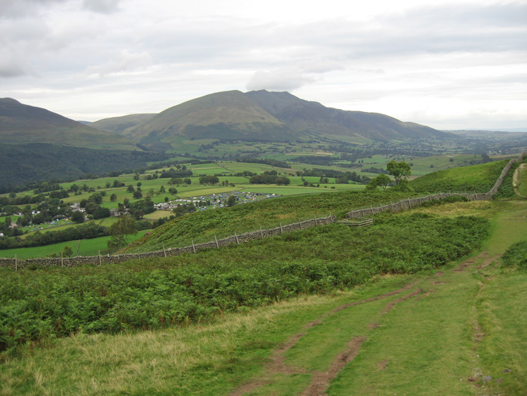 Blencathra from the Rakefoot to Walla Crag path