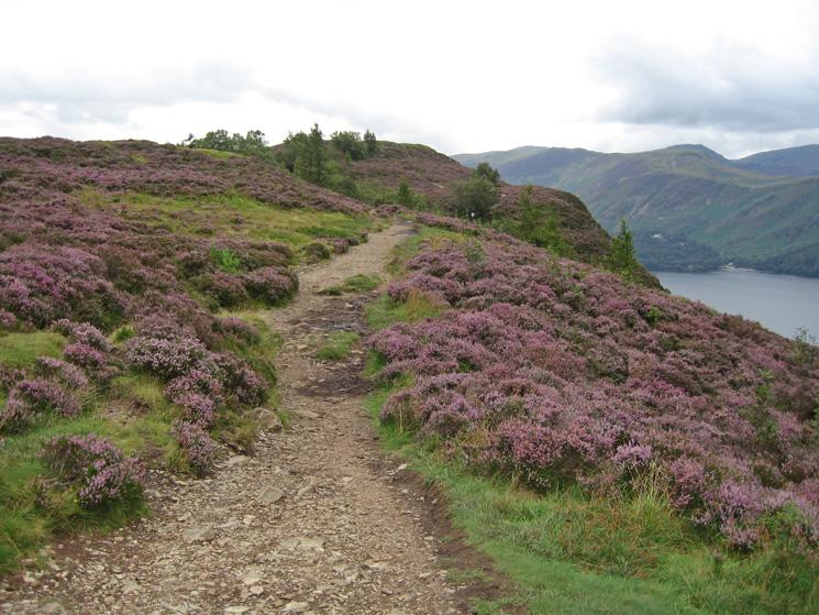 The path along the top of Walla Crag