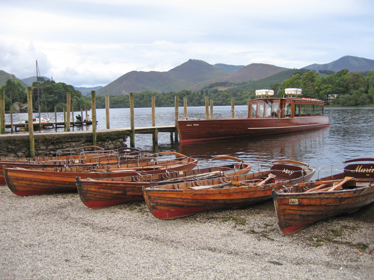 Causey Pike from the Keswick landing stages, Derwent Water
