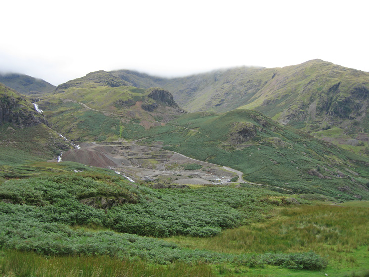 Looking across Coppermines valley to Wetherlam